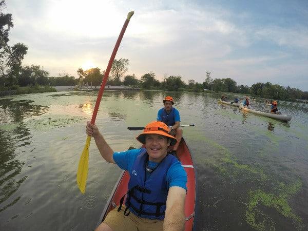 Skokie Lagoons canoeing