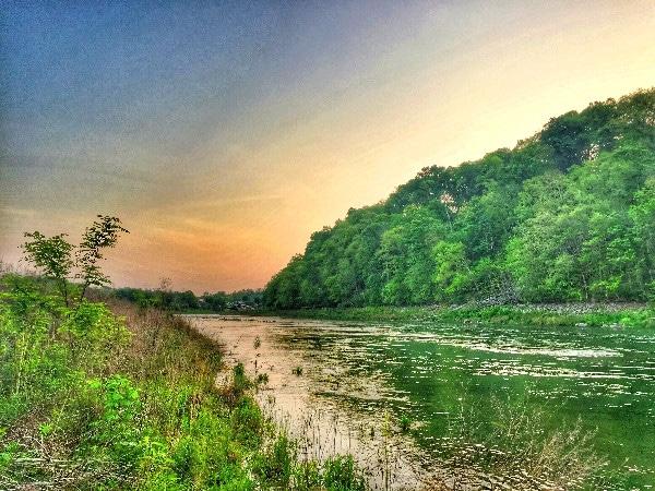 Sunset Boone Lake