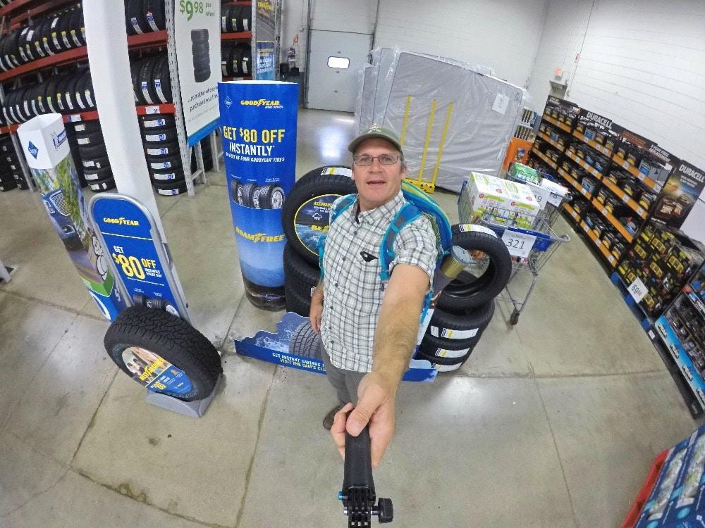 Goodyear Assurance WeatherReady tires selfie