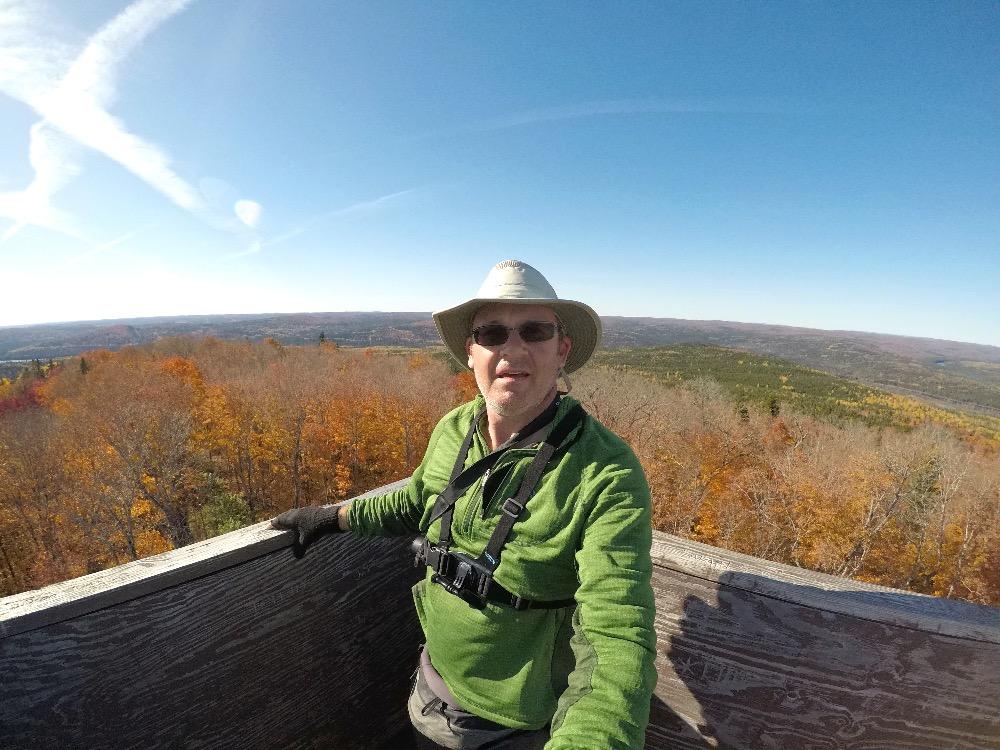 Fire Tower Trail selfie