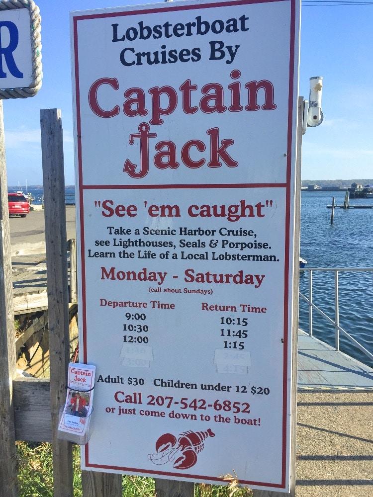 Captain Jack Rockland, Maine