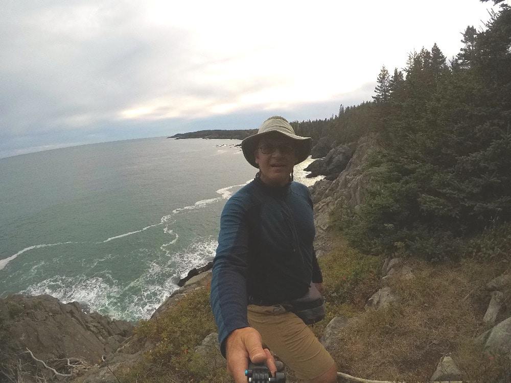 Backpacking Maine Coast selfie