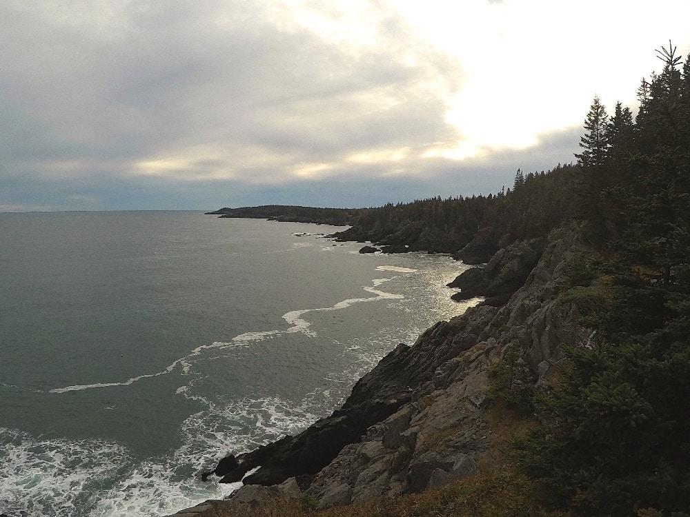 Backpacking Maine Coast Coastal Trail
