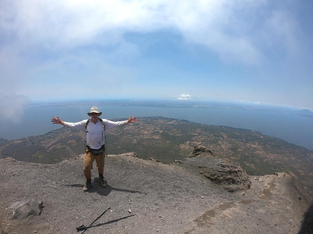 On top Concepción Volcano