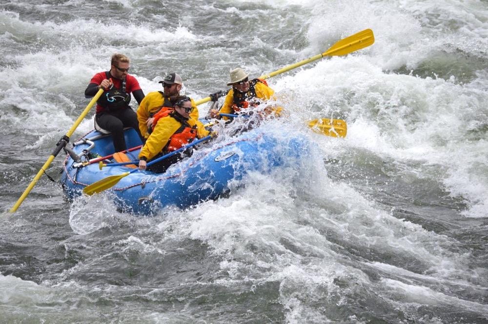 Class III whitewater Spokane River