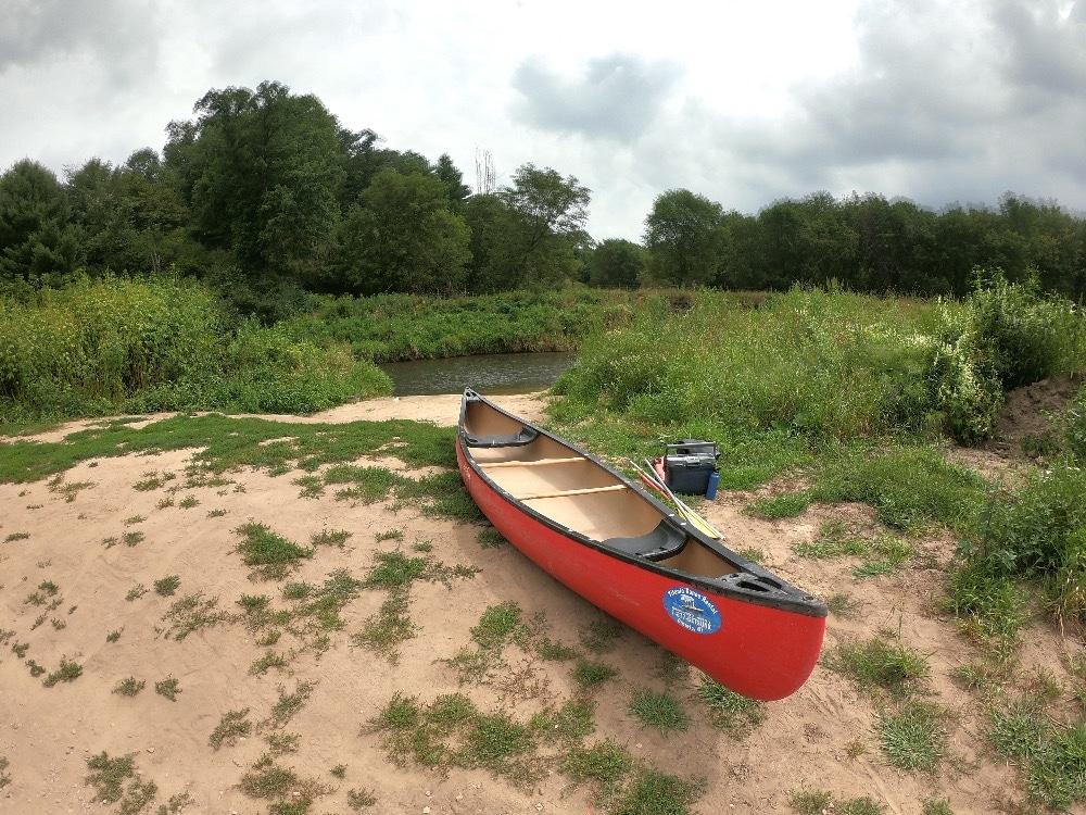 Kickapoo River canoe poling adventure