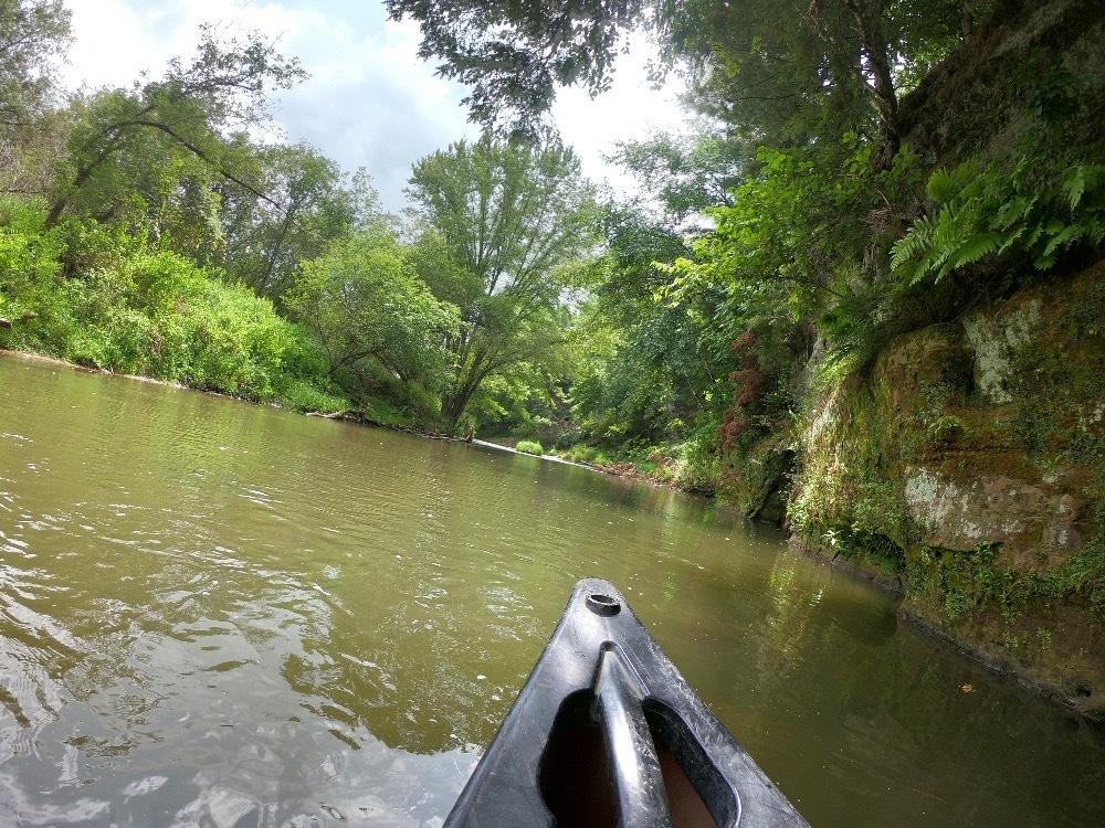 Kickapoo River canoe