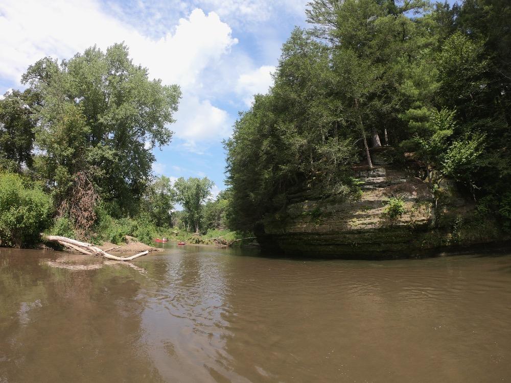 Swim break Kickapoo River