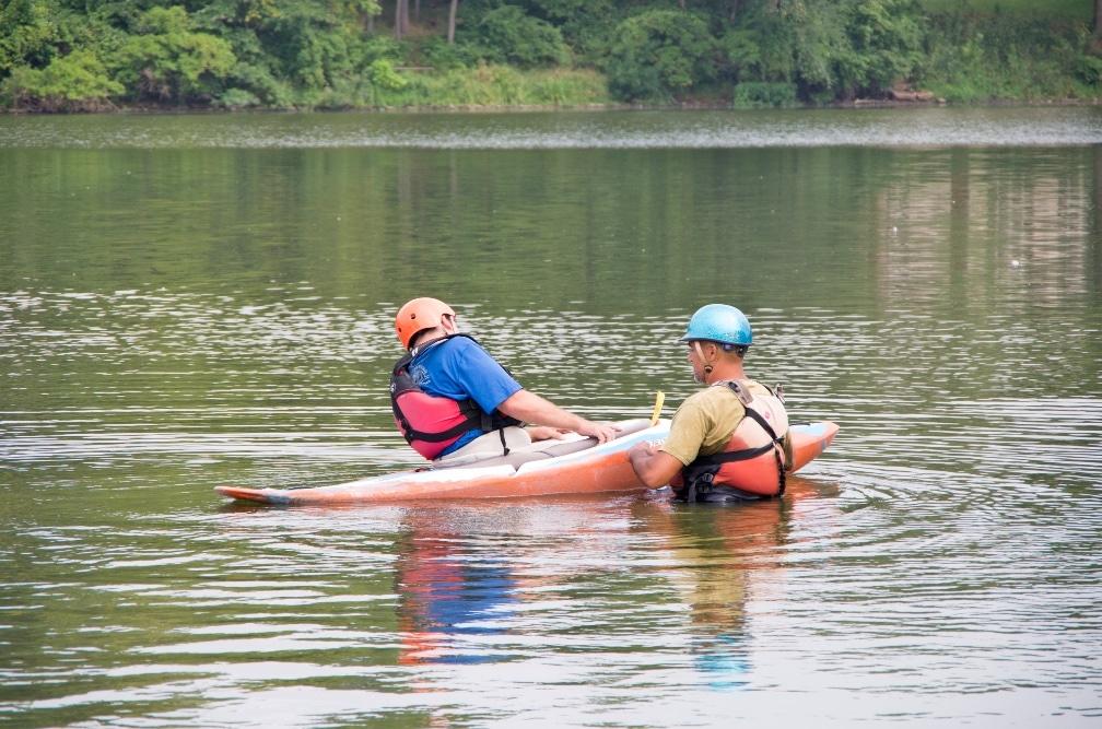 Wet kayak exit