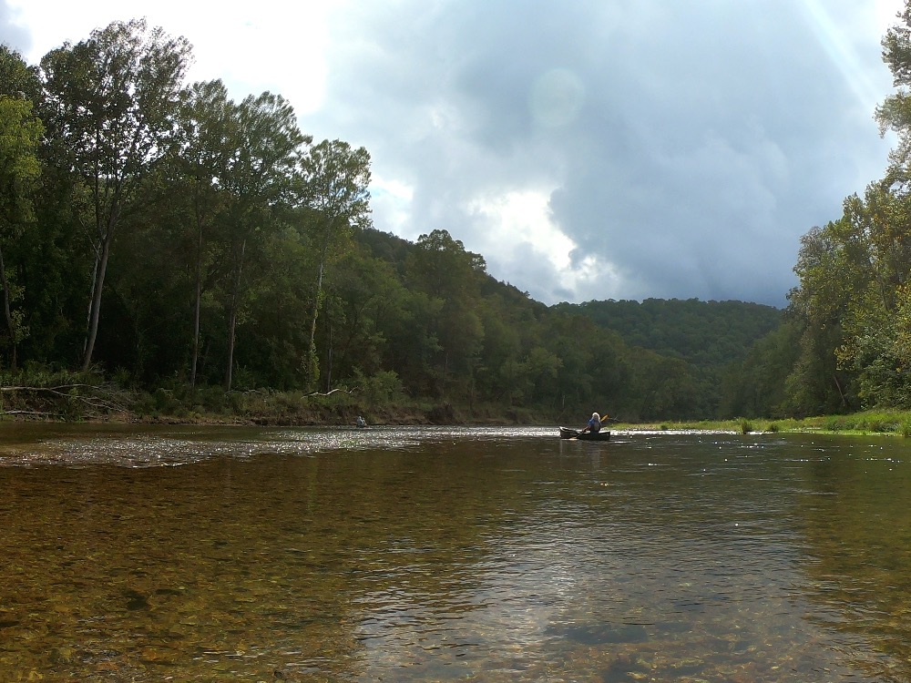 Bob Tyler canoeing Current River