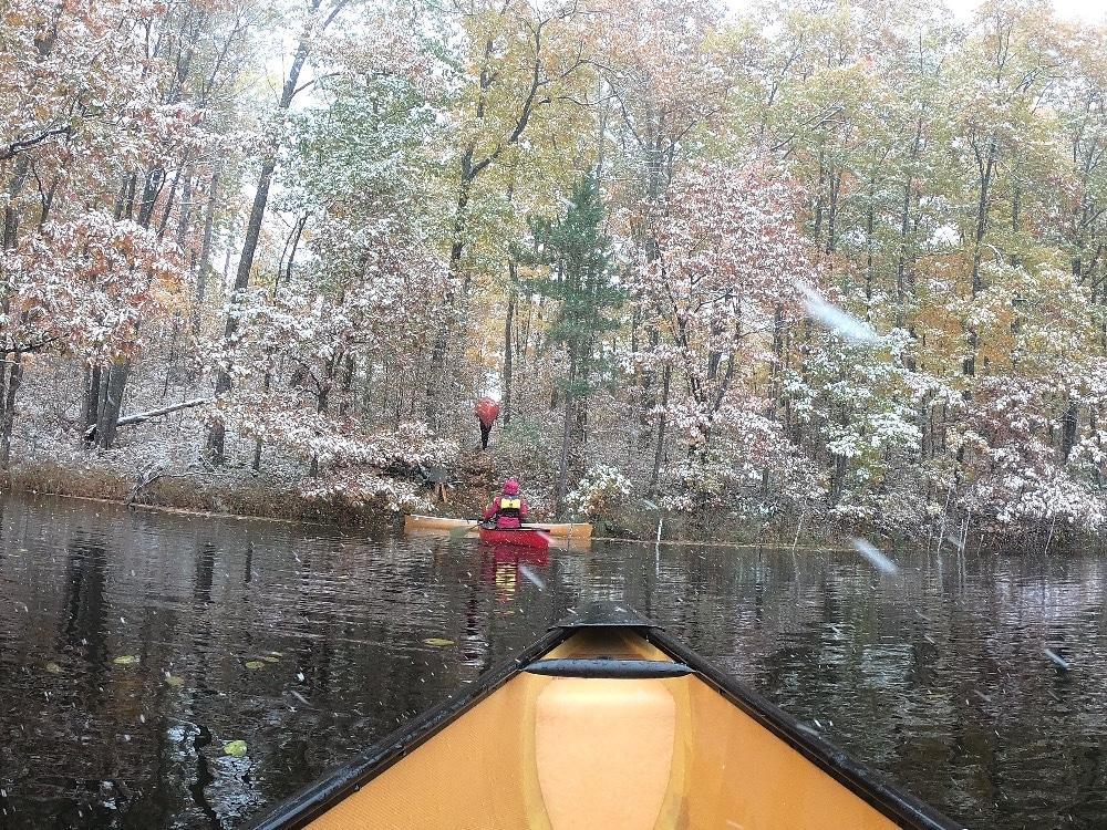 Portaging Birchwood Canoe Routes