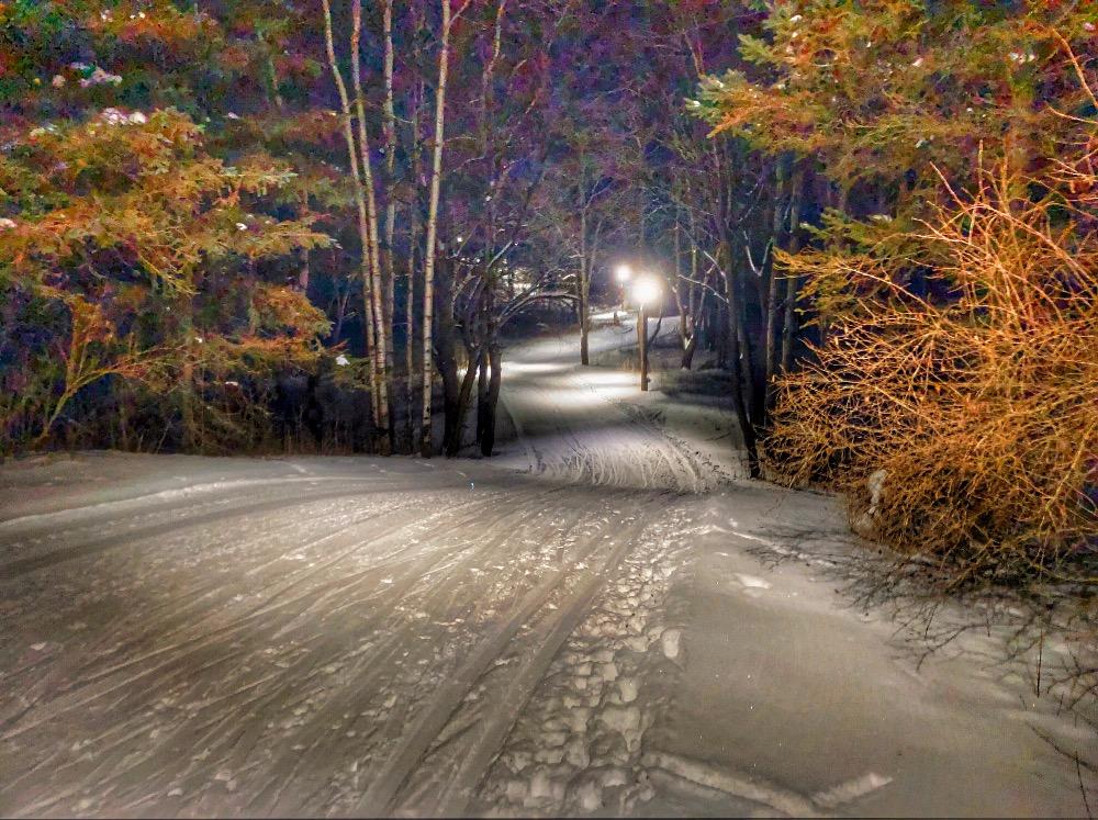 Lapham Peak night skiing