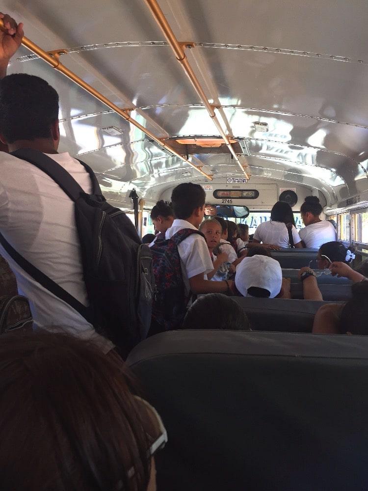 Nicaragua chicken bus