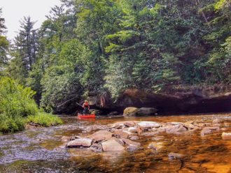 Black River State Forest canoeing adventure