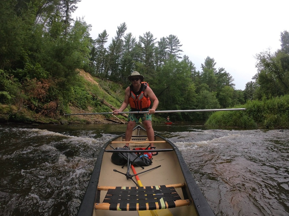 Halls Creek canoe poling