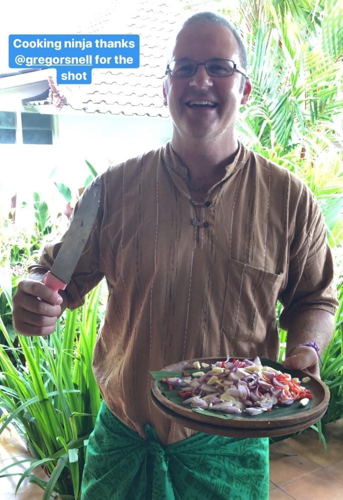 Ubud Bali selfies cooking class