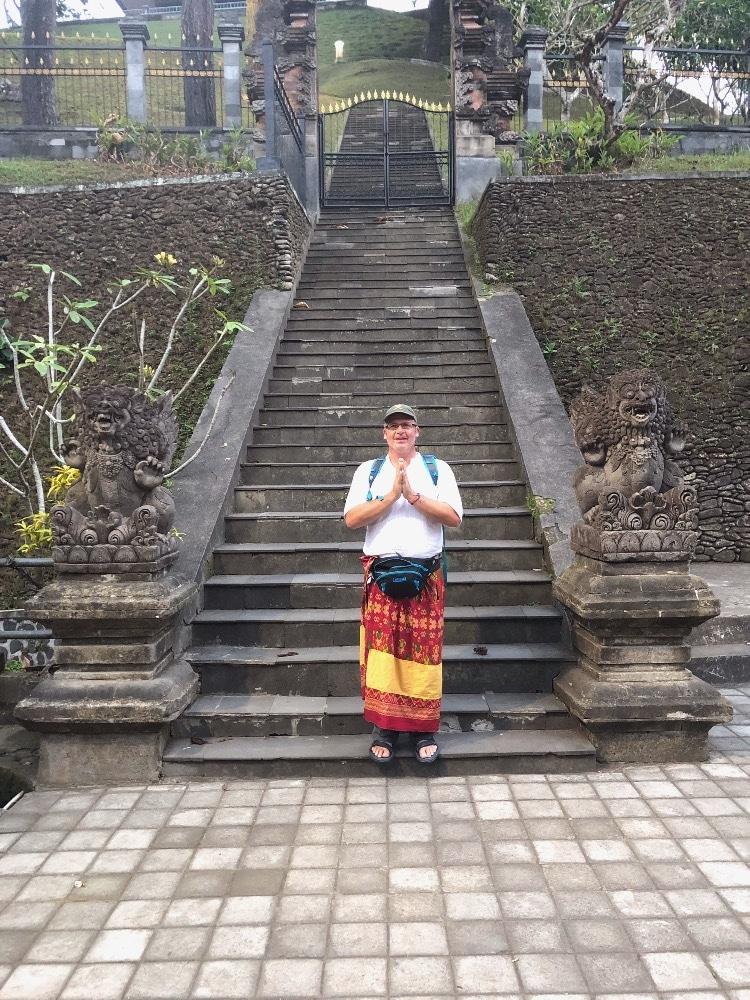 Prayer pose Ubud Bali