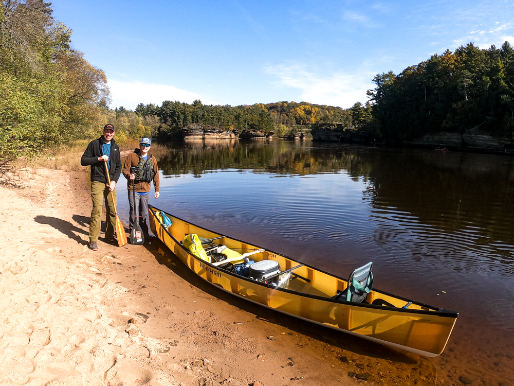 Wisconsin River sandbar