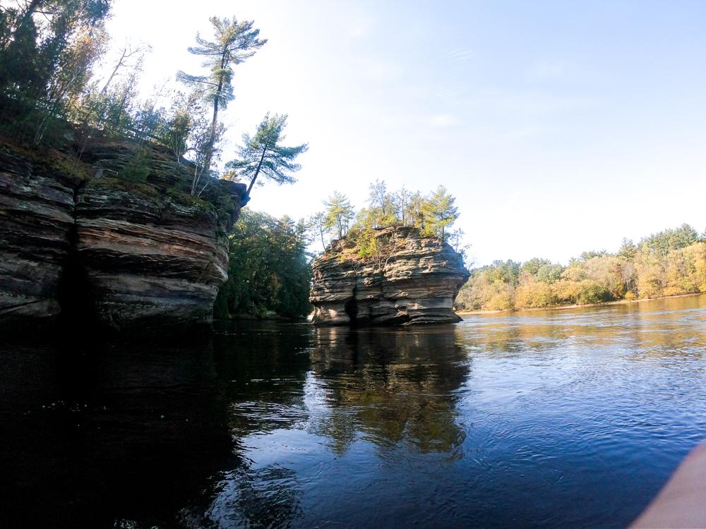 Wisconsin Dells rock formations