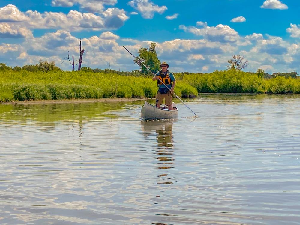 Nippersink Creek canoe poling