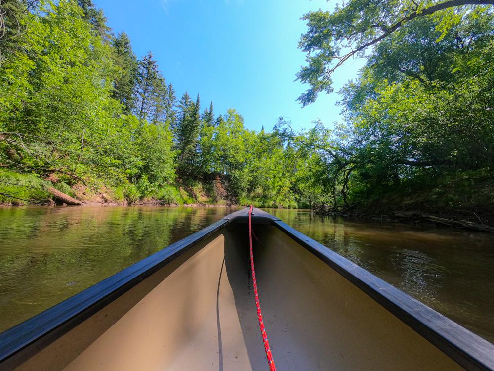 Canoeing White River Wisconsin