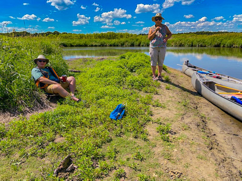 Canoe lunch break