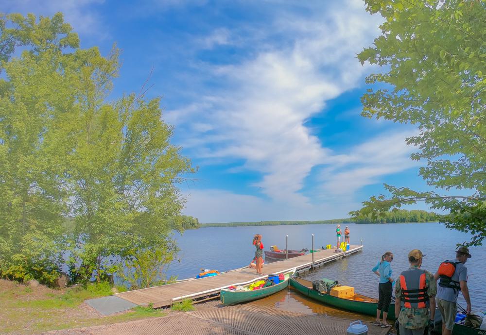 Turtle Flambeau Flowage canoe camping