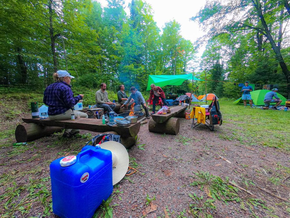 Bull Moose Patrol camp