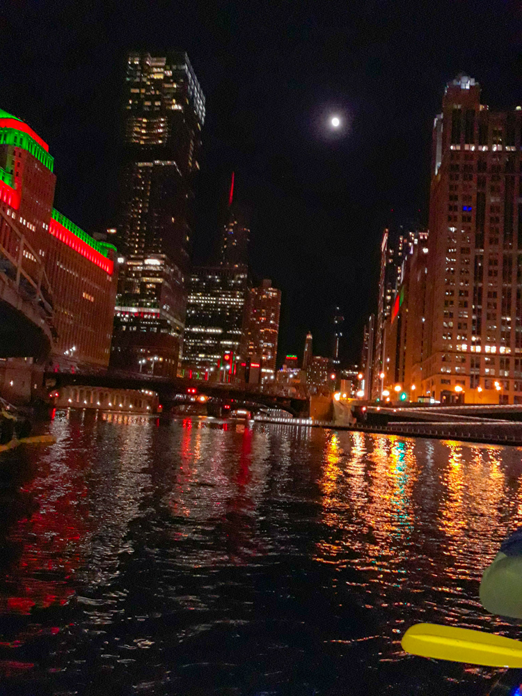 Chicago River Christmas paddle