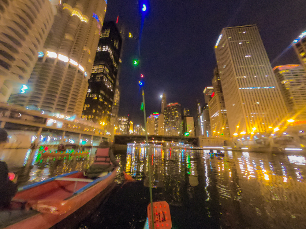 Chicago River moonrise