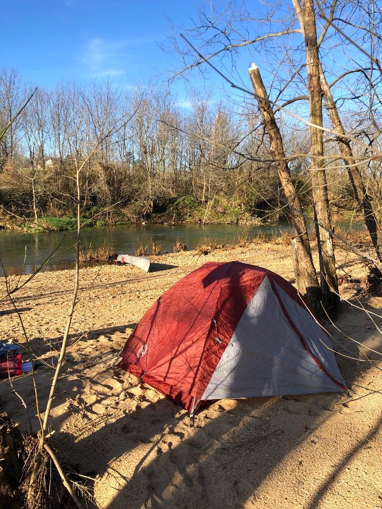 Missouri river camping