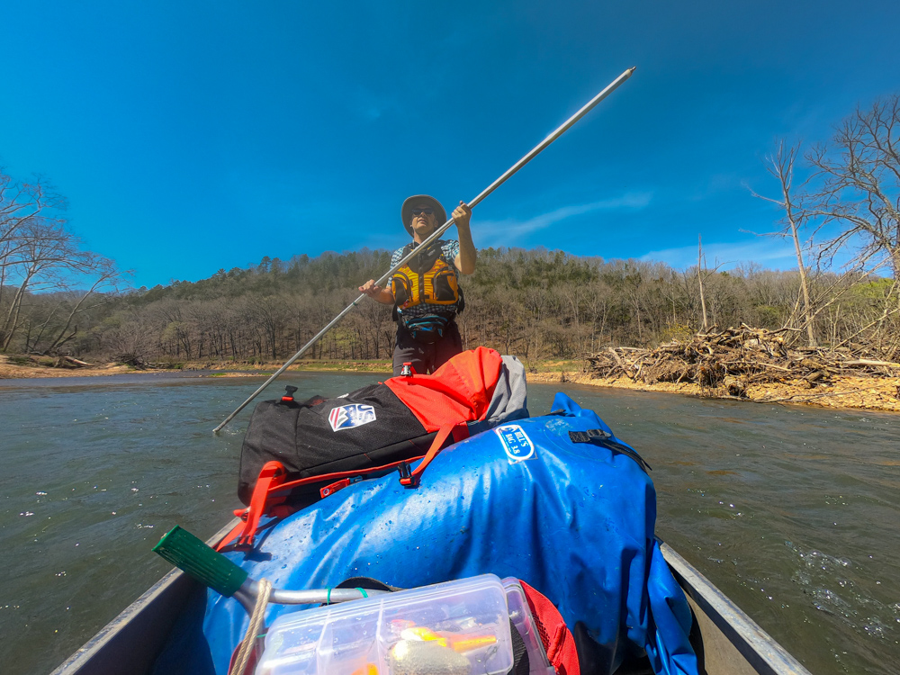 Eleven Point River poling
