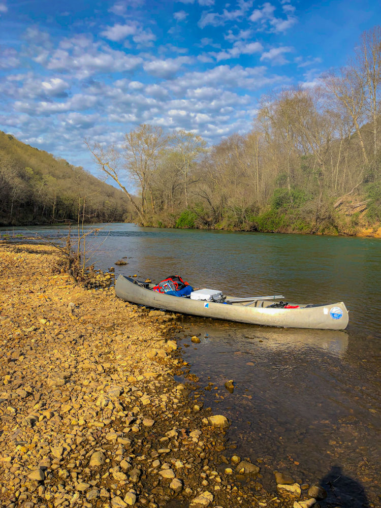 Canoe camping Ozark Rivers