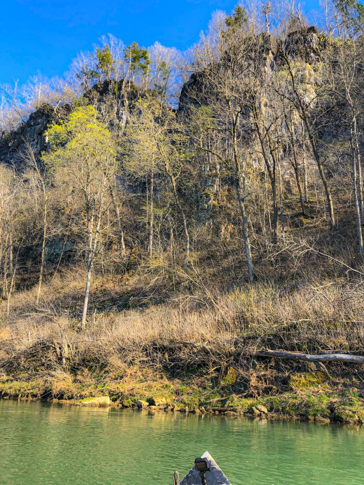 Missouri river cliff