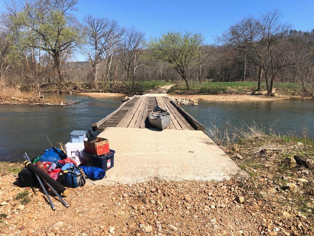 Low water bridge Eleven Point River