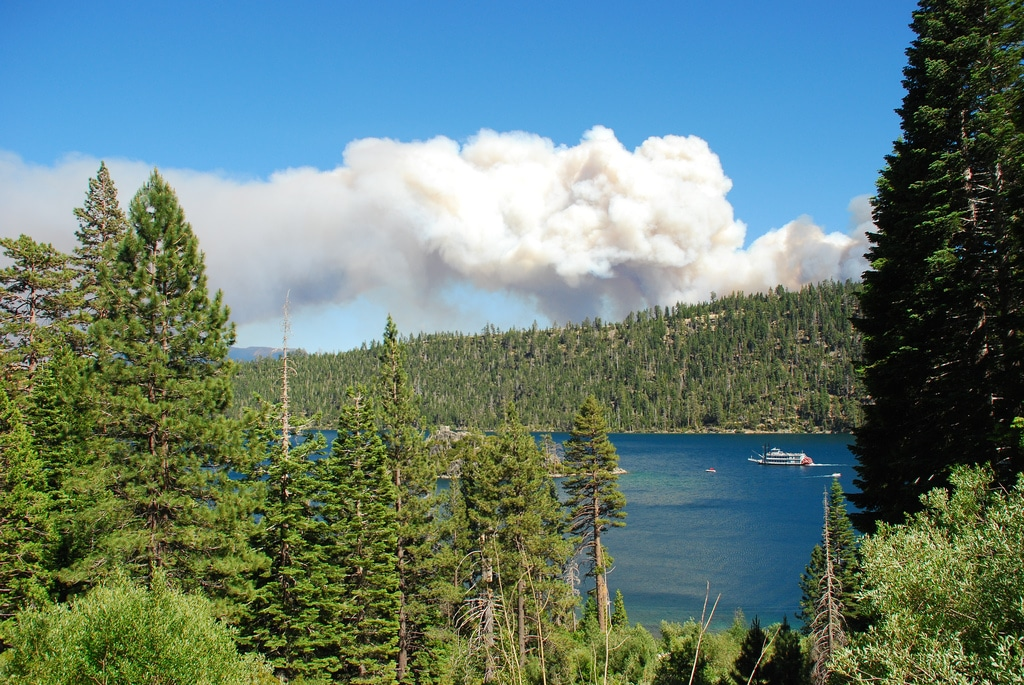 Angora Fire Lake Tahoe